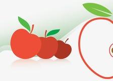 Fondo rojo de la manzana Imágenes de archivo libres de regalías