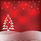 Fondo rojo de la Navidad. stock de ilustración