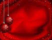 Fondo rojo de la Navidad Imágenes de archivo libres de regalías