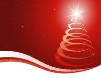 Fondo rojo de la Navidad Foto de archivo