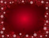 Fondo rojo de la Navidad. Fotografía de archivo