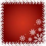 Fondo rojo de la Navidad. ilustración del vector