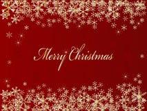 Fondo rojo de la Navidad Foto de archivo libre de regalías