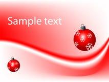 Fondo rojo de la Navidad Imagen de archivo