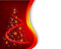Fondo rojo de la Navidad Fotos de archivo
