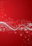 Fondo rojo de la Navidad ilustración del vector