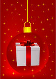 Fondo rojo de la Navidad con la bola libre illustration