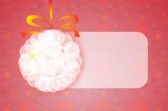 Fondo rojo de la Navidad con la decoración Libre Illustration