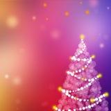 Fondo rojo de la Navidad con la Navidad Imagenes de archivo