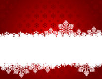 Fondo rojo de la Navidad con los copos de nieve. Imágenes de archivo libres de regalías