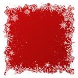Fondo rojo de la Navidad del Grunge Fotos de archivo libres de regalías