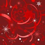 Fondo rojo de la Navidad inconsútil Imagenes de archivo