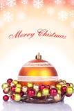 Fondo rojo de la Navidad - tarjeta Imágenes de archivo libres de regalías