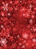 Fondo rojo de la nieve Fotos de archivo