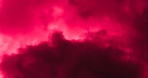 Fondo rojo de la nube Fotos de archivo libres de regalías