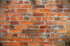 Fondo rojo de la pared de ladrillo Fotos de archivo libres de regalías