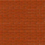 Fondo rojo de la pared de ladrillo Fotos de archivo