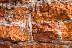Fondo rojo de la pared de ladrillo Foto de archivo libre de regalías