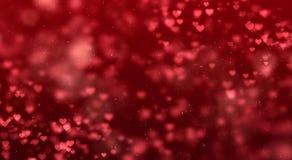 Fondo rojo de la pendiente de la pendiente abstracta de la Navidad con el bokeh g foto de archivo libre de regalías