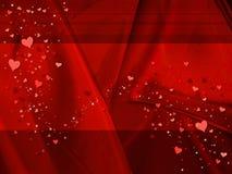 Fondo rojo de la tarjeta del día de San Valentín stock de ilustración