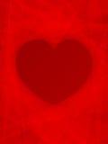 Fondo rojo de la tarjeta del día de San Valentín del corazón Fotos de archivo