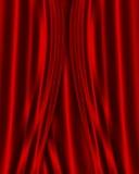 Fondo rojo de la tela del satén stock de ilustración