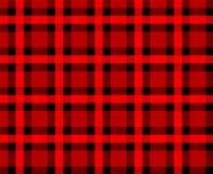 Fondo rojo de la tela escocesa Ilustración del Vector