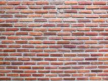 Fondo rojo de la textura de la pared de ladrillo Foto de archivo libre de regalías