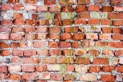 Fondo rojo de la textura de la pared de ladrillo vieja Fotografía de archivo libre de regalías