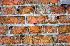 Fondo rojo de la textura de la pared de ladrillo vieja Imagen de archivo