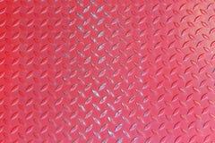 Fondo rojo de la textura del metal Fotografía de archivo libre de regalías