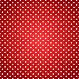Fondo rojo de la toalla de la comida campestre de los lunares stock de ilustración