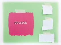 Fondo rojo de la universidad y blanco verde Fotos de archivo libres de regalías