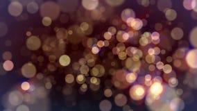 Fondo rojo de las luces de las partículas que brilla intensamente almacen de video