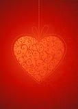 Fondo rojo de las tarjetas del día de San Valentín Fotografía de archivo