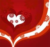 Fondo rojo de las tarjetas del día de San Valentín Fotos de archivo
