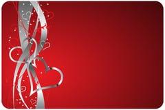 Fondo rojo de las tarjetas del día de San Valentín Imagen de archivo libre de regalías