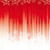Fondo rojo de los copos de nieve Foto de archivo