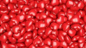 Fondo rojo de los corazones imagen de archivo libre de regalías