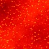 Fondo rojo de los corazones Imagen de archivo