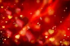 Fondo rojo de los corazones libre illustration