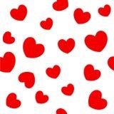 Fondo rojo de los corazones Fotos de archivo libres de regalías
