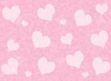 Fondo rojo de los corazones del día de tarjeta del día de San Valentín Textura del amor Imagen de archivo libre de regalías