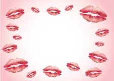 Fondo rojo de los labios del kisser libre illustration