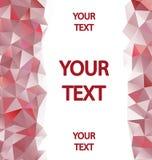 Fondo rojo de los polígonos con el lugar para su texto Fotografía de archivo