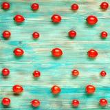 Fondo rojo de los tomates Fotografía de archivo