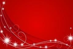 Fondo rojo de luces de la Navidad stock de ilustración