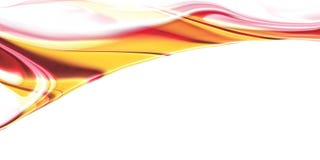 Fondo rojo de oro de la onda con efectos brillantes de la pendiente y de la falta de definición libre illustration