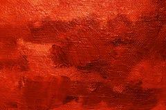 Fondo rojo de pintura de petróleo Fotografía de archivo libre de regalías