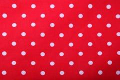 Fondo rojo de punto de polca Imagen de archivo